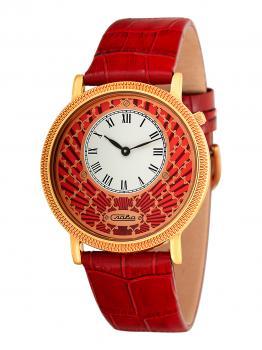 Российские наручные  женские часы Slava 1343472-GL20. Коллекция Браво