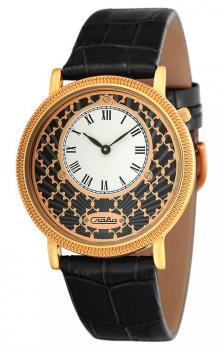 Российские наручные  женские часы Slava 1343473-GL20. Коллекция Браво