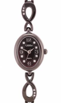 Российские наручные  женские часы Slava 6034098-2035. Коллекция Инстинкт