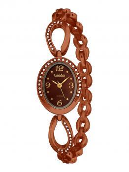 Российские наручные  женские часы Slava 6067504-2035. Коллекция Инстинкт