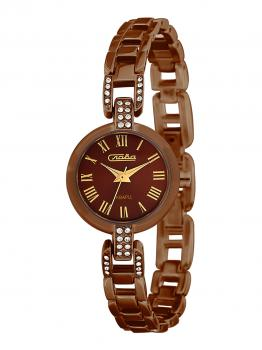 Российские наручные  женские часы Slava 6087506-2035. Коллекция Инстинкт