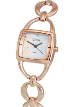 Российские наручные  женские часы Slava 6099185-2035. Коллекция Инстинкт