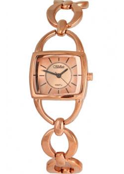 Российские наручные  женские часы Slava 6099207-2035. Коллекция Инстинкт