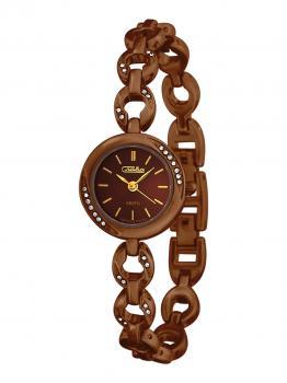 Российские наручные  женские часы Slava 6127508-2035. Коллекция Инстинкт