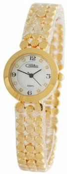 Российские наручные  женские часы Slava 6153198-2035. Коллекция Инстинкт