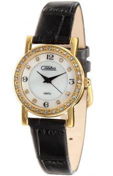 Российские наручные  женские часы Slava 6173198-2035. Коллекция Инстинкт
