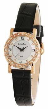 Российские наручные  женские часы Slava 6179375-2025. Коллекция Инстинкт