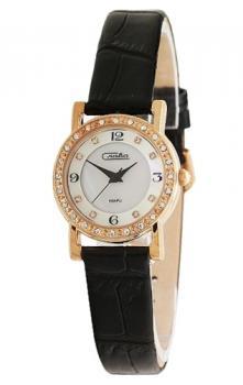 Российские наручные  женские часы Slava 6179375-2035. Коллекция Инстинкт