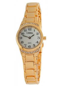 Российские наручные  женские часы Slava 6193376-2035. Коллекция Инстинкт