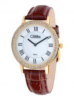 Российские наручные  женские часы Slava 6233485-2025. Коллекция Инстинкт