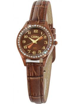 Российские наручные  женские часы Slava 6247494-2035. Коллекция Инстинкт