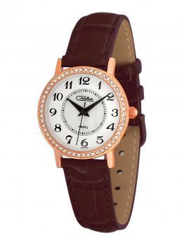 Российские наручные  женские часы Slava 6269496-2035. Коллекция Инстинкт