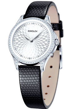fashion наручные  женские часы Sokolov 137.30.00.001.03.01.2. Коллекция Flirt