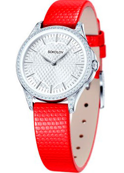 fashion наручные  женские часы Sokolov 137.30.00.001.05.03.2. Коллекция Flirt.