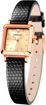fashion наручные  женские часы Sokolov 231.01.00.000.06.01.2. Коллекция Diva