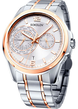 fashion наручные  мужские часы Sokolov 340.76.00.000.05.02.3. Коллекция My World