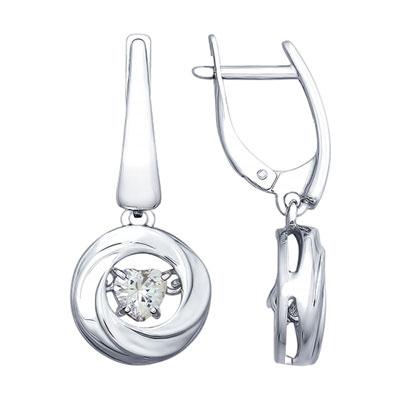 Серебряные серьги  89020090