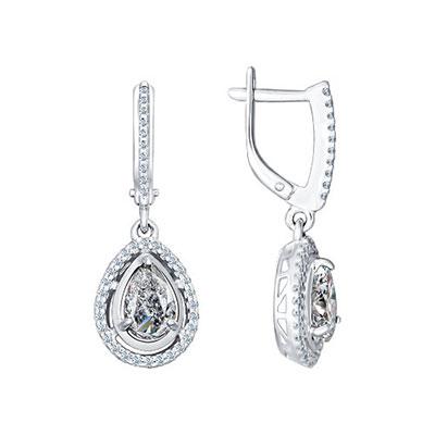 Серебряные серьги  94021565