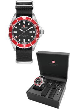 Швейцарские наручные мужские часы Swiss military hanowa 06-8279.04.007.04SET. Коллекция Sea Leon