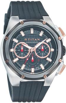 мужские часы Titan 9470KP02. Коллекция SPORT