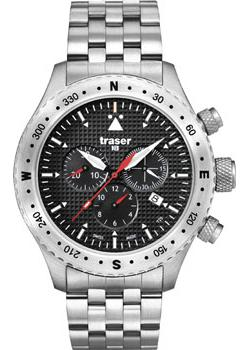 Купить Мужские наручные часы Traser Aviator Jungmann - сталь (100369). Женские наручные часы Ingersoll IN2711WHMB
