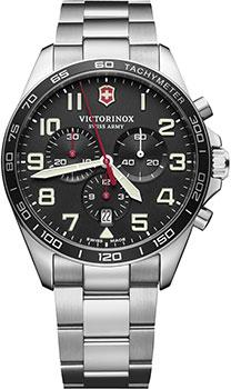 Швейцарские наручные  мужские часы Victorinox Swiss Army 241855. Коллекция Fieldforce Chrono