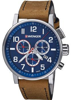 Купить Швейцарские наручные мужские часы Wenger 01.0343.101. Коллекция Attitude Chrono