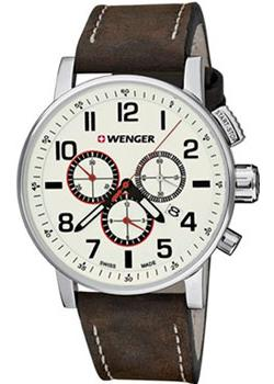 Купить Швейцарские наручные мужские часы Wenger 01.0343.103. Коллекция Attitude Chrono