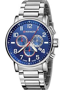 Купить Швейцарские наручные мужские часы Wenger 01.0343.106. Коллекция Attitude Chrono