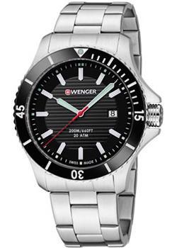 Швейцарские наручные мужские часы Wenger 01.0641.118. Коллекция Seaforce фото