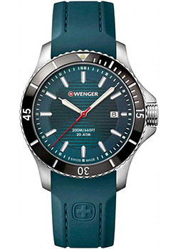 Швейцарские наручные  мужские часы Wenger 01.0641.128. Коллекция Seaforce.