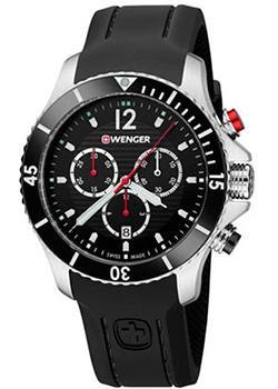 Купить Швейцарские наручные мужские часы Wenger 01.0643.108. Коллекция Seaforce Chrono
