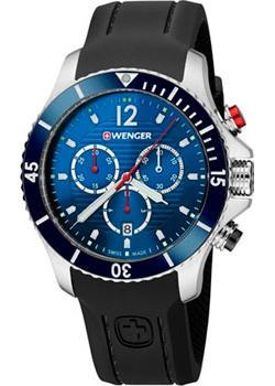 Купить Швейцарские наручные мужские часы Wenger 01.0643.110. Коллекция Seaforce Chrono