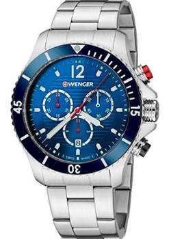 Швейцарские наручные мужские часы Wenger 01.0643.111. Коллекция Seaforce Chrono фото