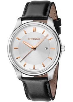 Купить Швейцарские наручные мужские часы Wenger 01.1441.103. Коллекция City Classic