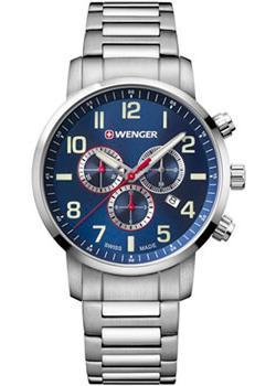 Купить Швейцарские наручные мужские часы Wenger 01.1543.101. Коллекция Attitude