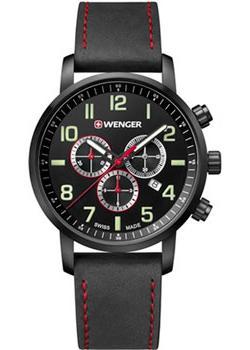Швейцарские наручные  мужские часы Wenger 01.1543.104. Коллекция Attitude.