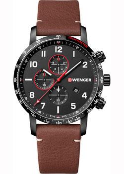 Купить Швейцарские наручные мужские часы Wenger 01.1543.107. Коллекция Attitude