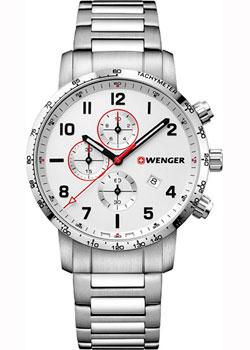 Купить Швейцарские наручные мужские часы Wenger 01.1543.110. Коллекция Attitude