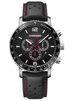 Купить Швейцарские наручные мужские часы Wenger 01.1843.101. Коллекция Roadster Black Night