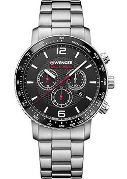 Купить Швейцарские наручные мужские часы Wenger 01.1843.103. Коллекция Roadster Black Night