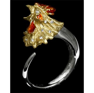 Золотое кольцо  Ювелирное изделие 10070