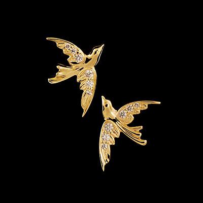 Золотые серьги 22140
