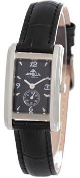 Швейцарские наручные  женские часы Appella 4346-3014. Коллекция Leather