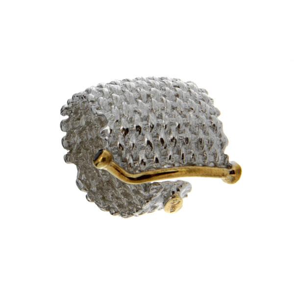 Купить Серебряное кольцо 1149s, Кольцо Beavers из серебра 925 пр. Покрытие: Родий. Вставка: Сапфир. Вес: 12, 02 гр.., Ювелирное изделие