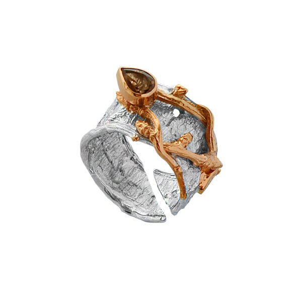 Серебряное кольцо  1218rt