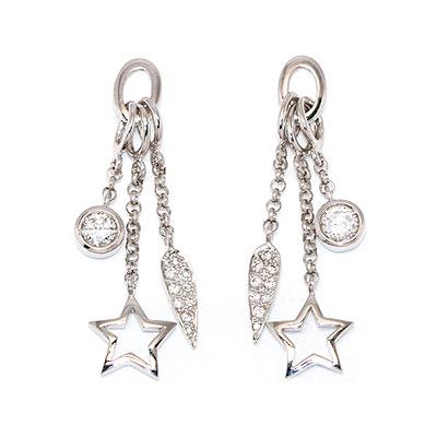 Серебряные серьги  0019714