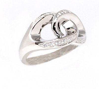 Серебряное кольцо  07034