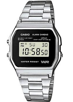 Японские наручные  мужские часы Casio A-158WEA-1E. Коллекция Standart Digital