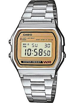 Японские наручные  мужские часы Casio A-158WEA-9E. Коллекция Standart Digital
